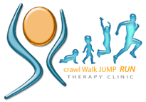 Crawl Walk Jump Run Therapy Clinic Logo